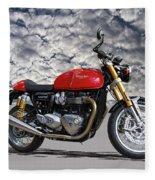 2016 Triumph Cafe Racer Motorcycle Fleece Blanket