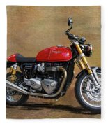 2016 Triumph Motorcycle Fleece Blanket