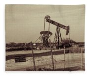 2016_10_pecos Tx_ Pump Jacks 1 Fleece Blanket