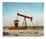 2016_10_pecos Tx_pump Jacks 2 Fleece Blanket