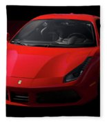 2017 Ferrari 488 Gtb Fleece Blanket