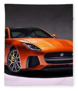 2017 Jaguar F Type Fleece Blanket