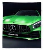 2017 Mercedes Amg Gt R Coupe Sports Car Fleece Blanket