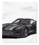 2017 Triple Black Corvette Fleece Blanket