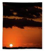 2017_08_midkiff Tx_ Sunset Pump Jack 3 Fleece Blanket