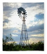 2017_08_midland Tx_windmill 2 Fleece Blanket