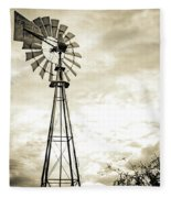 2017_08_midland Tx_windmill 3 Fleece Blanket