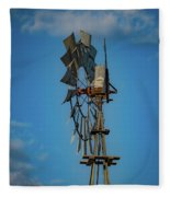 2017_08_midland Tx_windmill 8 Fleece Blanket