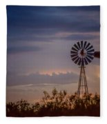 2017_09_midland Tx_windmill 11 Fleece Blanket