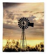 2017_09_midland Tx_windmill 6 Fleece Blanket