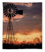 2017_09_midland Tx_windmill 7 Fleece Blanket