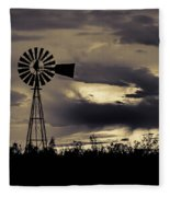 2017_09_midland Tx_windmill 8 Fleece Blanket