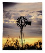 2017_09_midland Tx_windmill 9 Fleece Blanket