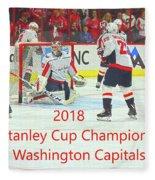 2018 Stanley Cup Champions Washington Capitals Fleece Blanket