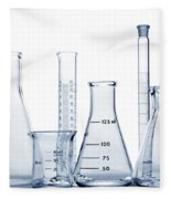 Laboratory Equipment In Science Research Lab Fleece Blanket
