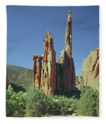 210806-h Spires In Garden Of The Gods Fleece Blanket