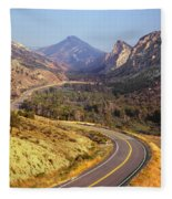 212308 Road To Sheep Creek Canyon Fleece Blanket