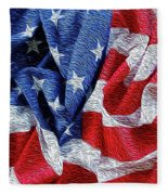 American Flag 40 Fleece Blanket