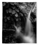 Broad River Flowing Through Wooded Forest Fleece Blanket