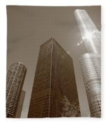Chicago Skyscrapers Fleece Blanket