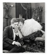 Silent Film Still: Couples Fleece Blanket