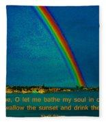 227- Khalil Gibran Fleece Blanket
