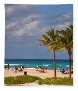 23- A Day At The Beach Fleece Blanket
