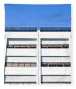 Modern Building Fleece Blanket