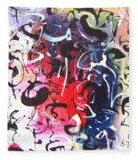 Abstract Calligraphy Fleece Blanket