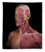 Facial Muscles Fleece Blanket