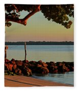 24- Morning In North Palm Beach Fleece Blanket