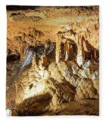 Onondaga Cave Formations Fleece Blanket