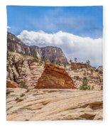 Zion Canyon National Park Utah Fleece Blanket