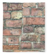 Brick Wall Fleece Blanket