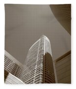 Chicago Skyscrapers Fleece Blanket