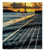 25 De Abril Bridge In Lisbon. Fleece Blanket