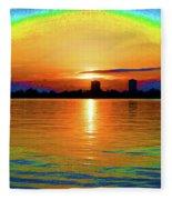 25- Psychedelic Sunrise Fleece Blanket