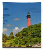 255- Becca Lee - Jupiter Lighthouse Fleece Blanket