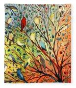 27 Birds Fleece Blanket