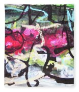Abstract Landscape Painting Fleece Blanket
