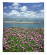 2a6106 Ice Plant Doran Beach Ca Fleece Blanket