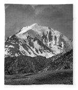 2d07508-bw High Peak In Lost River Range Fleece Blanket