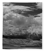 2d07517-bw Storm Over Lost River Range Fleece Blanket