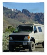 2da5944-dc Our Sportsmobile At Steens Mountain Fleece Blanket