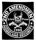 2nd Amendment Fleece Blanket
