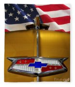 1954 Chevrolet Hood Emblem Fleece Blanket