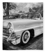 1959 Lincoln Continental Town Car Mk Iv Painted Bw   Fleece Blanket