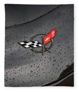 2002 Corvette Ls1 Painted Bw Fleece Blanket