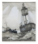A Lightship's Xmas Dinner Fleece Blanket