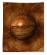Abstract Brown Globe Fleece Blanket